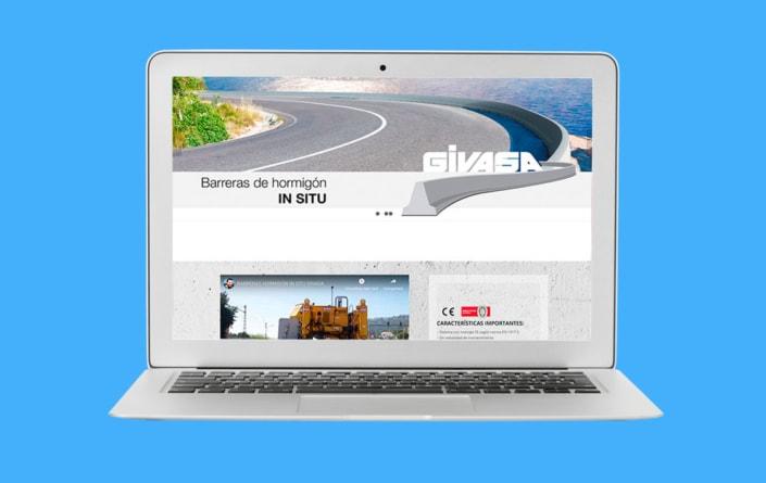 Diseño web GIVASA - Top Imatge Badalona