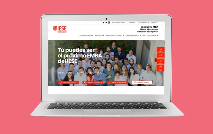 Diseño web IESE Executive MBA