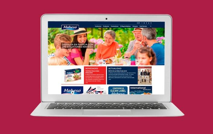 Diseño web Maheso - Top Imatge Badalona